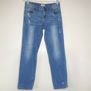 Free People 27 Jeans Distressed Boyfriend Mid Rise